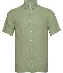 fredrik bd ss-clean linen overhemd met korte mouwen groen j. lindeberg
