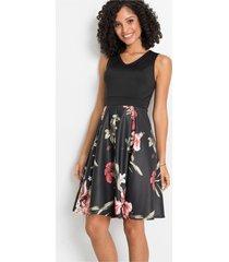 jurk met gedessineerd rokdeel