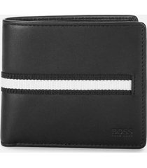 boss hugo boss men's wallet and key ring gift set - black