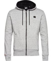 trekker fleece zip hood hoodie trui grijs superdry