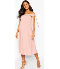 maternity tie side bradot skater dress, dusky pink
