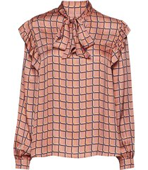 dimitri shirt blus långärmad orange nué notes