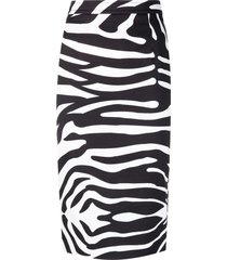 cotton high waisted pencil skirt