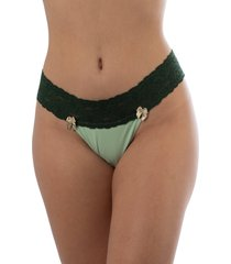 calcinha tanga thais gusmã£o vintage amor verde - verde - feminino - dafiti