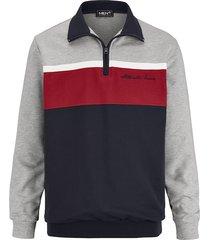 sweatshirt men plus grijs::rood