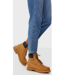 timberland af 6in prem wheat flat boots gul
