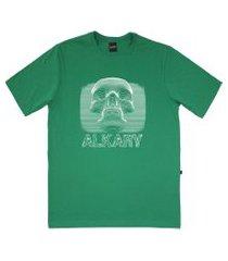 camiseta alkary caveira 3d verde aguá