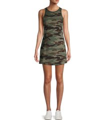 bb dakota women's all terrain camo mini tank dress - olive - size s