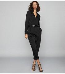reiss beatrice - tassel detailed blouse in black, womens, size 12