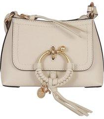 see by chloé top zip tassel detail shoulder bag