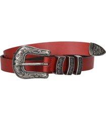 cinturon genoca rojo cuero zappa