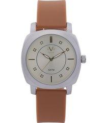 reloj plateado-café versace 19.69