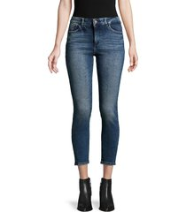 dl1961 premium denim women's florence cropped skinny jeans - truman - size 23 (00)