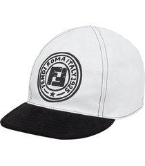 fendi reversible logo-print baseball cap - white
