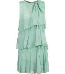 alberta ferretti asymmetric sleeveless dress
