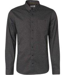 no excess shirt long sleeve flannel dark grey
