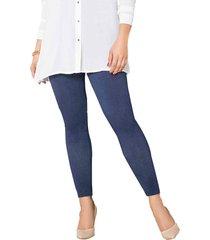 pantalon gisele azul para mujer croydon