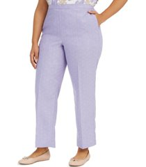 alfred dunner plus size nantucket pull-on pants