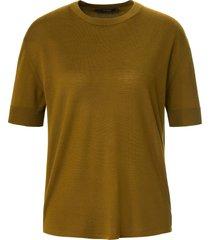 gebreid shirt 100% scheerwol korte mouwen van windsor groen