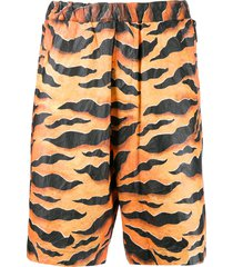 dsquared2 animal print shorts - orange