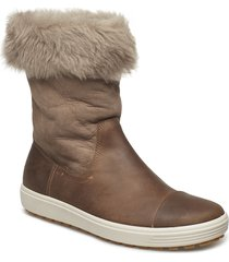 soft 7 tred w shoes boots ankle boots ankle boots flat heel brun ecco