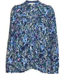 afi blouse lange mouwen blauw custommade
