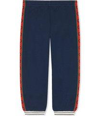 gucci blue cotton trousers