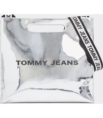 cartera item tote plateado tommy jeans