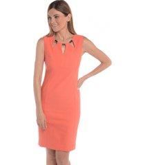 vestido recto ajustado naranjo bunnys