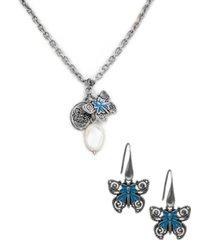 patricia nash butterfly jewelry set