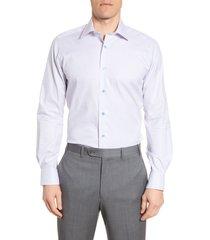 men's big & tall david donahue trim fit plaid dress shirt, size 17.5 - 36/37 - orange