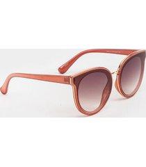 rosie mirror lens round sunglasses - rose