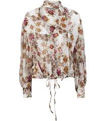 blus flora floral blouse