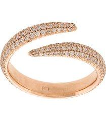 eva fehren diamond embellished midi ring - neutrals