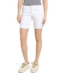 women's wit & wisdom ab-solution white denim shorts, size 18 - white (regular & petite) (nordstrom exclusive)