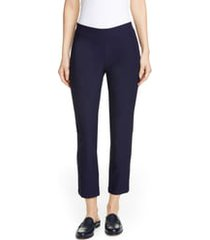 women's eileen fisher stretch crepe slim ankle pants, size small - blue