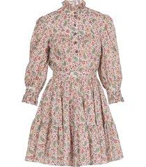 etro cotton short dress with floral paisley print