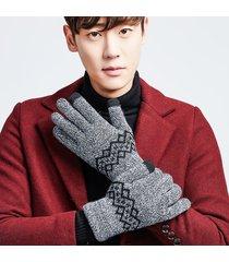 maschera da uomo invernale con touch screen caldo antivento full-finger guanti da esterno per sci da casa guanti