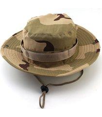 cuchara caza pesca sombrero de ala ancha tapa exterior unisex militar sun camo
