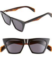 rag & bone 51mm cat eye sunglasses in black at nordstrom