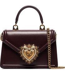 dolce & gabbana small devotion tote bag - red