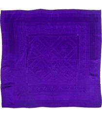 hermes sellier purple silk square scarf purple/logo sz: