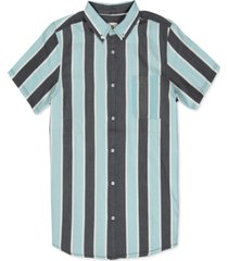 element men's vertical striped shirt