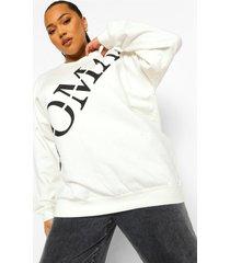 plus woman sweater met opdruk