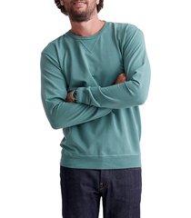 men's goodlife slim micro terry crewneck sweatshirt, size xx-large - green