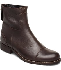 ankle boots shoes boots ankle boots ankle boots flat heel brun ilse jacobsen