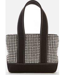 alexander wang women's cruiser crystal mini tote bag - black