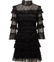 carmine mini dress kort klänning svart by malina