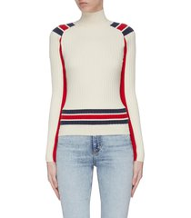 'julee' colourblock fitted knit top