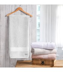 kit 4 toalhas de toalha de rosto classique 100% algodáo branco - tessi - tricae